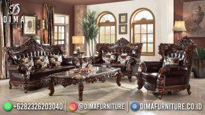 Sofa Tamu Klasik Jati Natural Beauty Carving Jepara Furniture MM-1118