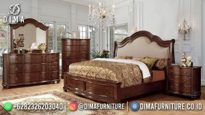 Tempat Tidur Minimalis Jati Natural Great Solid Wood MM-1113