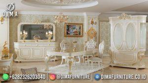 Beauty Ivory Meja Makan Terbaru Jepara High Quality Elegant Detail MM-1137