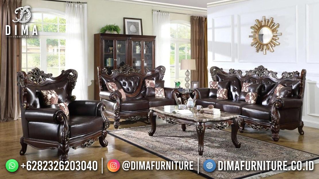 Classy Style Sofa Tamu Terbaru Black Elegant Best Price Sale Mm-1153