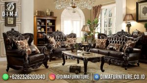 Elegant Black Sofa Tamu Terbaru Ukiran Cantik Furniture Jepara MM-1129