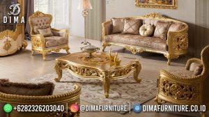 Furniture Jepara Sofa Tamu Mewah Terbaru Elegant Golden Luxury MM-1128