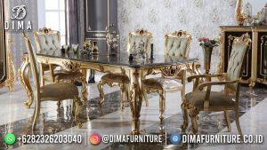 Golden Carving Meja Makan Mewah Jepara Glamorous Furniture MM-1121
