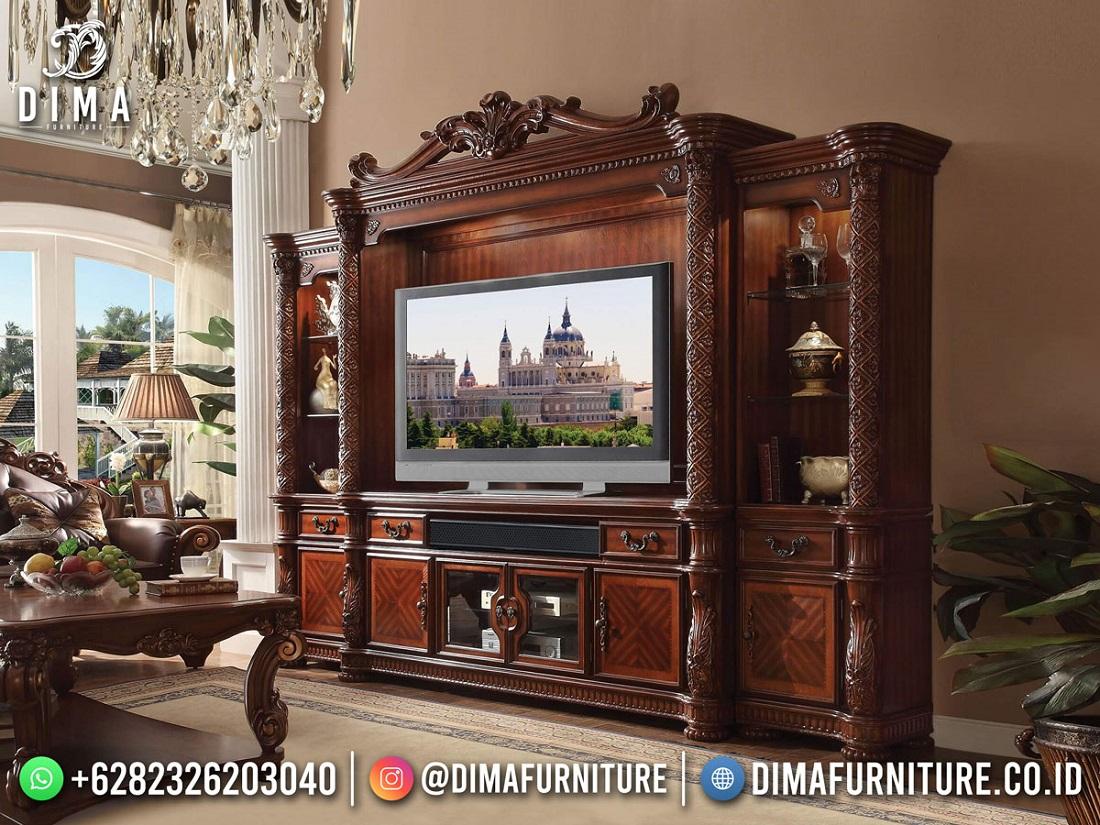 Model Terpopuler Bufet Tv Terbaru Jepara Classic Elegant Mm-1125