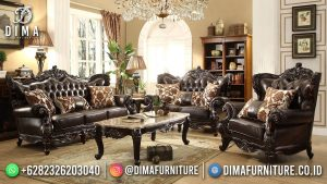 New Style Sofa Tamu Mewah Klasik Black Elegant Carving MM-1132