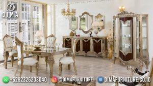 Royal Design Meja Makan Terbaru Ukiran Mewah Glamorous Furniture MM-1124