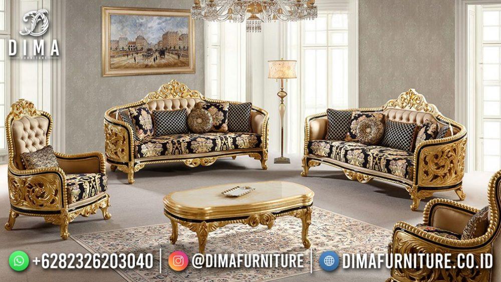 Set Sofa Tamu Mewah Terbaru Glamour Carving Jepara MM-1127