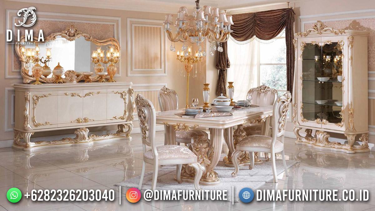 Atena Set Meja Makan Mewah Ukir Jepara Best Design Product Furniture Jepara Mm-1185