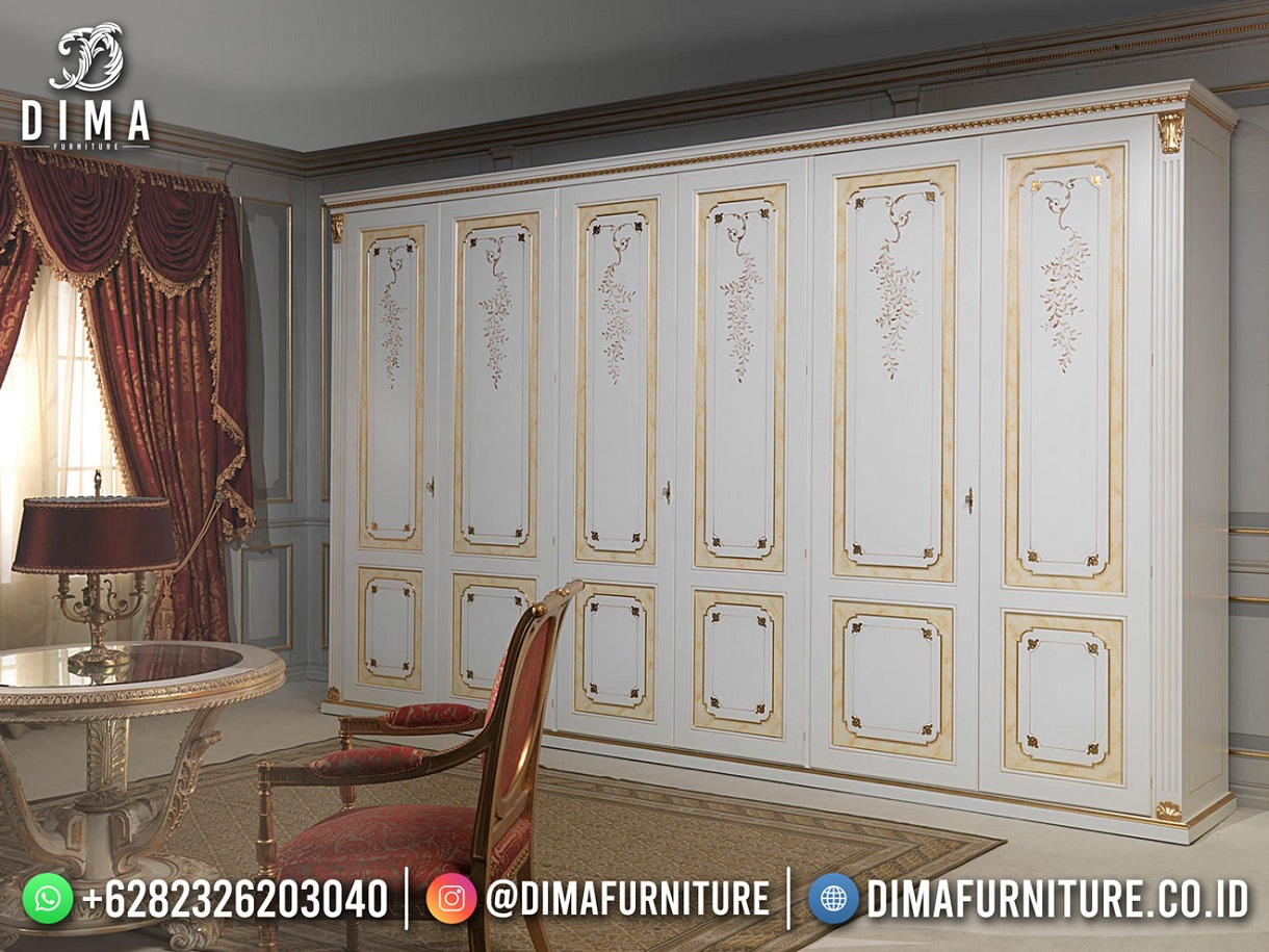 Austria Lemari Pakaian Mewah Elite Design Furniture Jepara Luxury Mm-1180