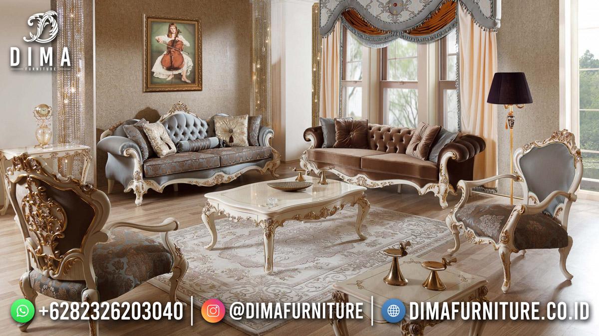 Classy Furniture Kursi Tamu Mewah Terbaru Cat Duco Putih Best Product Mm-1178