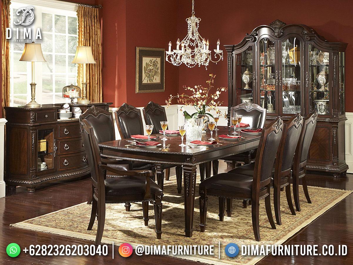Furniture Jepara Meja Makan Minimalis Elegant Classic High Quality Mm-1188