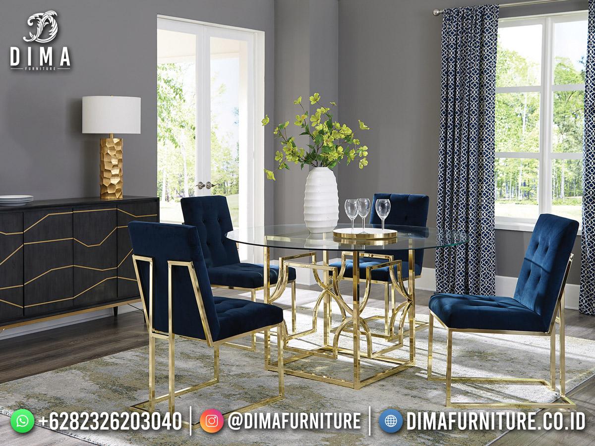 Industrial Furniture Set Meja Makan Minimalis Steel 100% High Quality Mm-1173