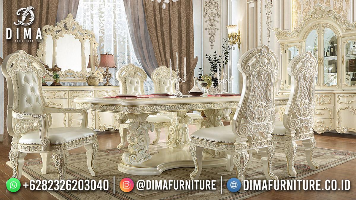 Jual Meja Makan Jepara Luxury Carving Elegant Empire Style Terbaru MM-1184