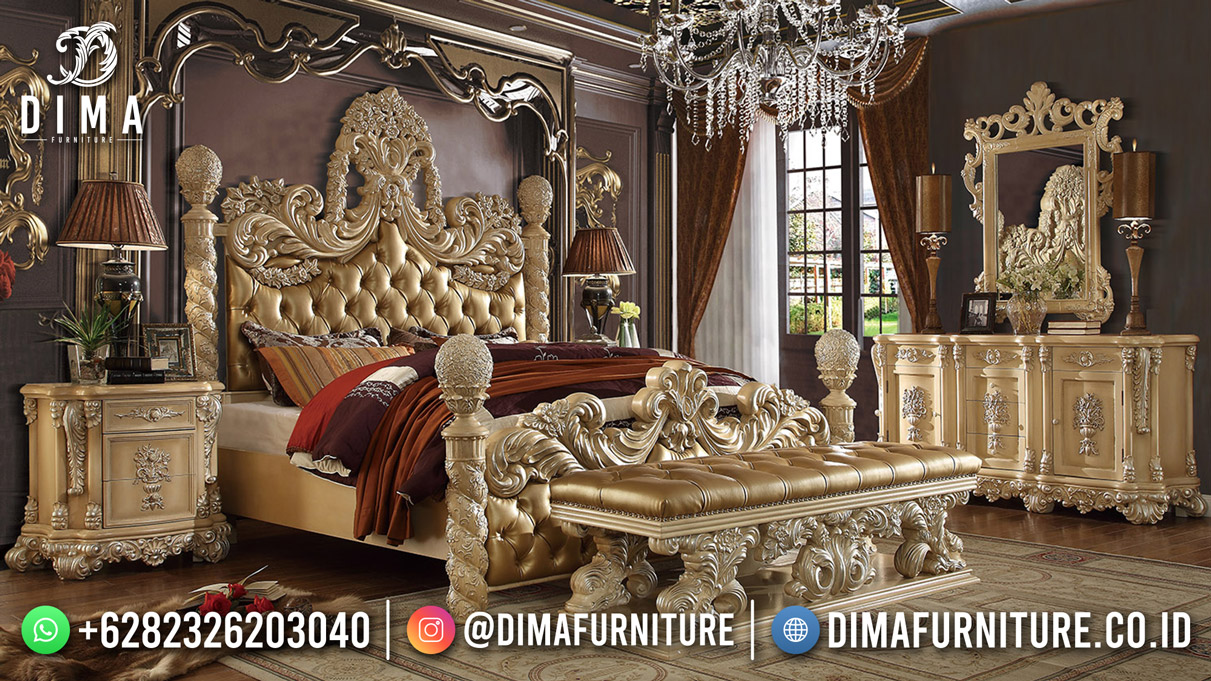 Luxury Carving Kamar Set TerbarU Furniture Mewah Jepara Mm-1201