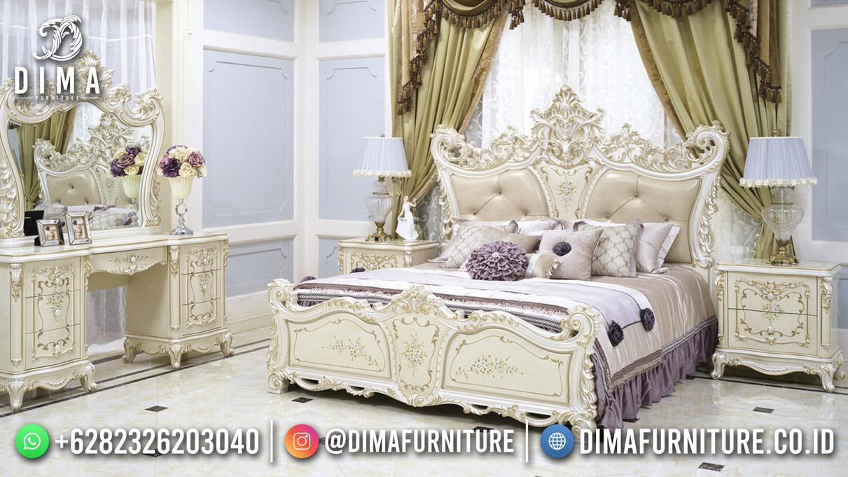 Queen Style Kamar Set Mewah Jepara Luxury Carving Modern Furniture Terbaru Mm-1202
