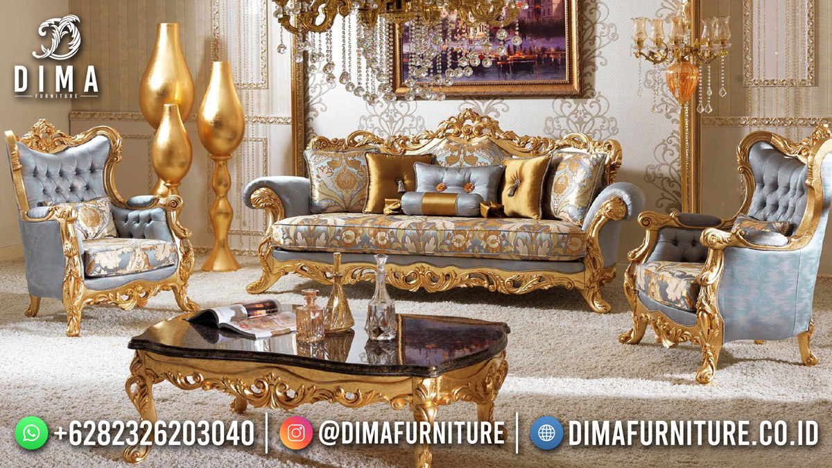 Sofa Tamu Mewah Jepara Vellaina Ukiran Luxury Great Quality Mm-1175