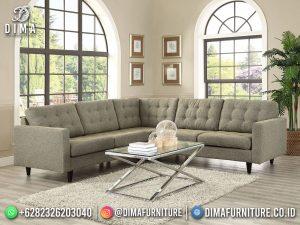 Terbaru Kursi Tamu Minimalis Sofa Sudut Furniture Jepara MM-1208