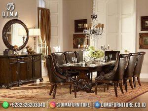 Terbaru Meja Makan Klasik Jati Jepara Elegant Salak Brwon MM-1162