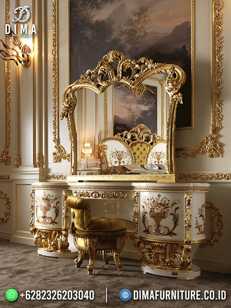 Terbaru Meja Rias Mewah Jepara Vanity Room 100% High Quality Elegant Design Mm-1199