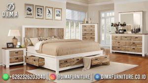 Ethnic Style Kamar Set Terbaru Minimalis Duco Combination Natural Teak MM-1218